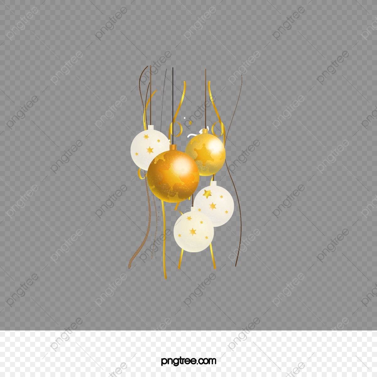 Christmas Chain Clipart.Painted Yellow Christmas Ball Golden Chain Golden Chain