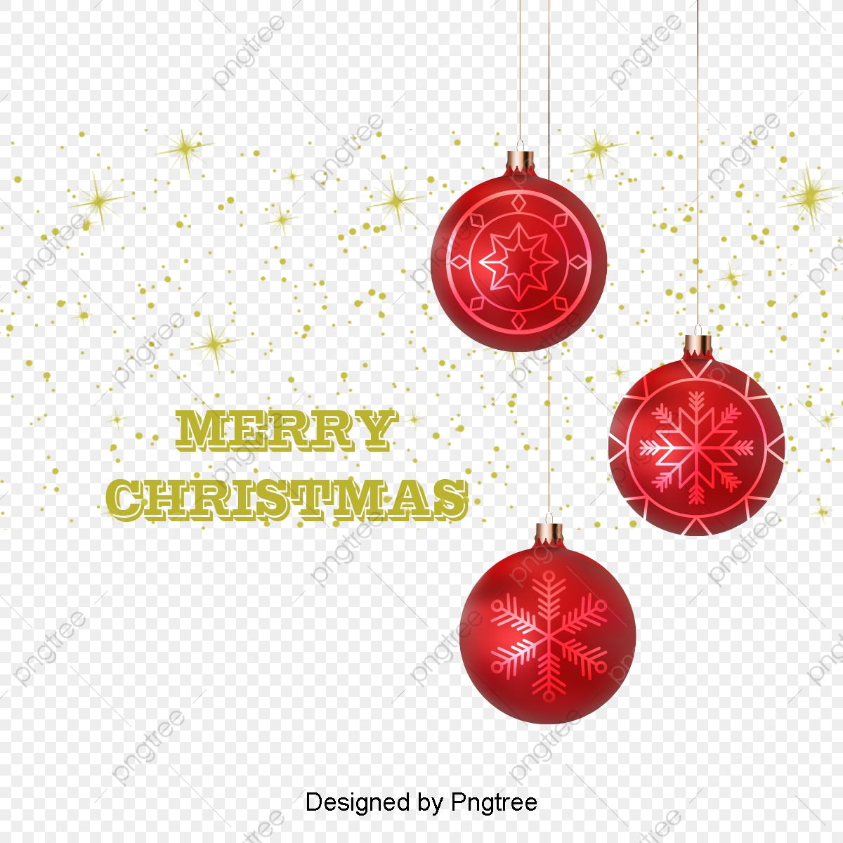 Red Christmas Ball Ornaments Golden Red Christmas Ball Vector Png Transparent Clipart Image And Psd File For Free Download