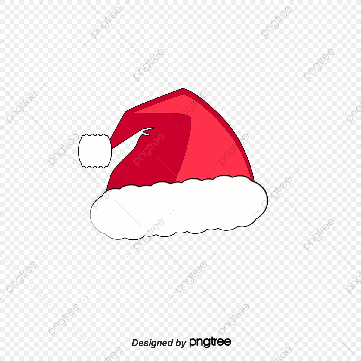 Christmas Hat Transparent Clipart.Red Christmas Hats Santa Hat Santa Claus Christmas Png