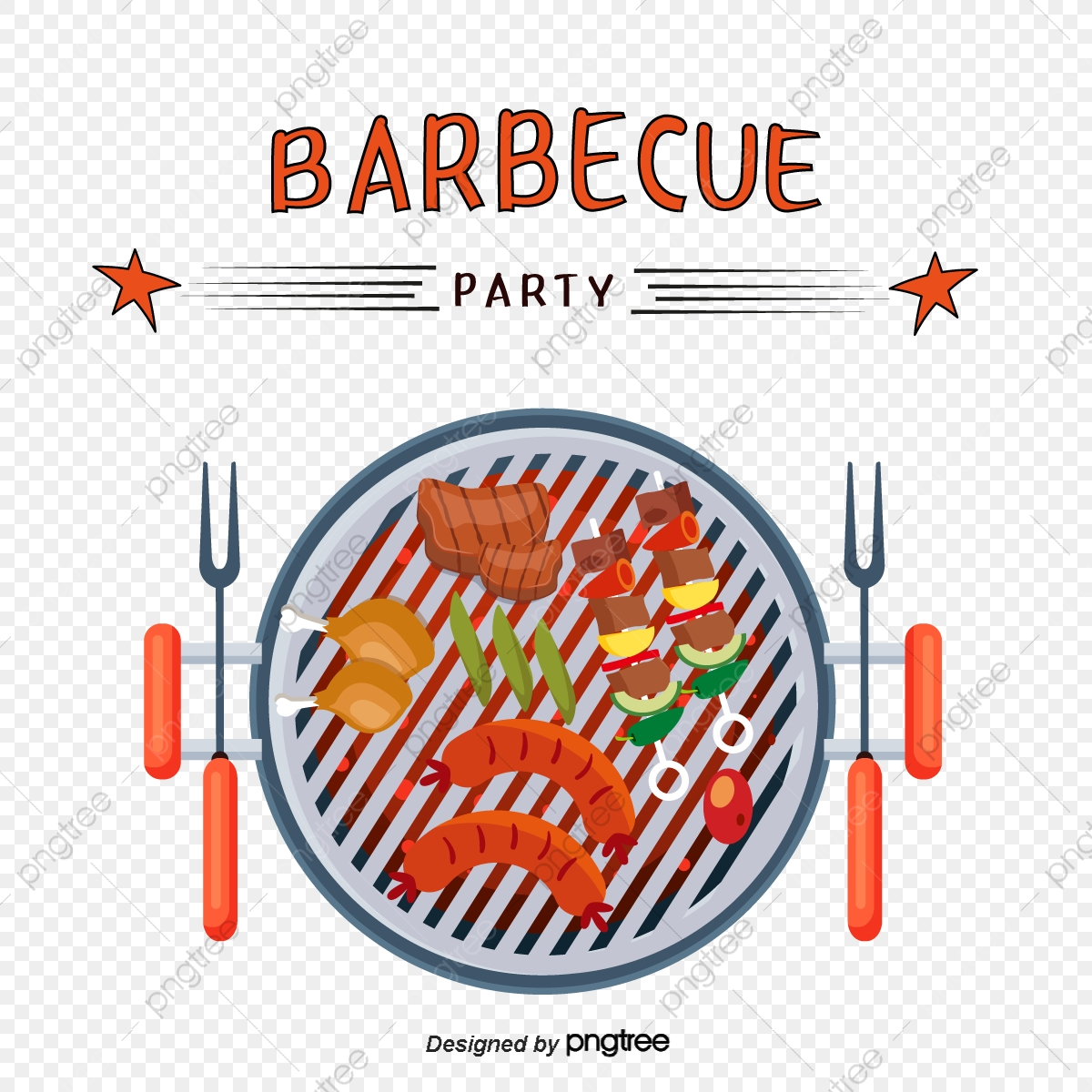 Download Barbecue Clipart Bbq Cook - Sausage Grilling Utensils Vector Png,  Transparent Png - kindpng
