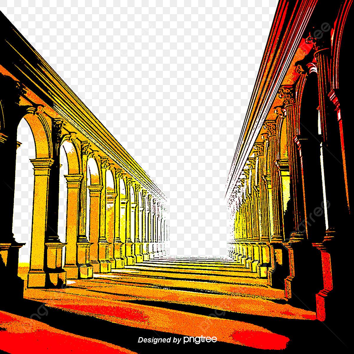Roman Perspective, Three Dimensional, Beautiful, Coconut