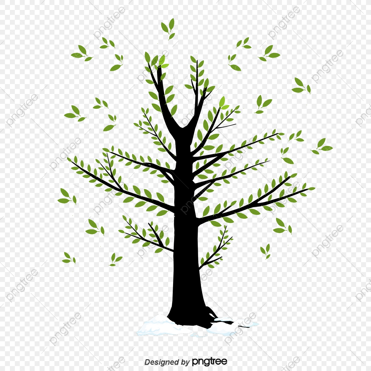 Small Tree Vector Birds, Tree Clipart, Birds, Trees PNG and