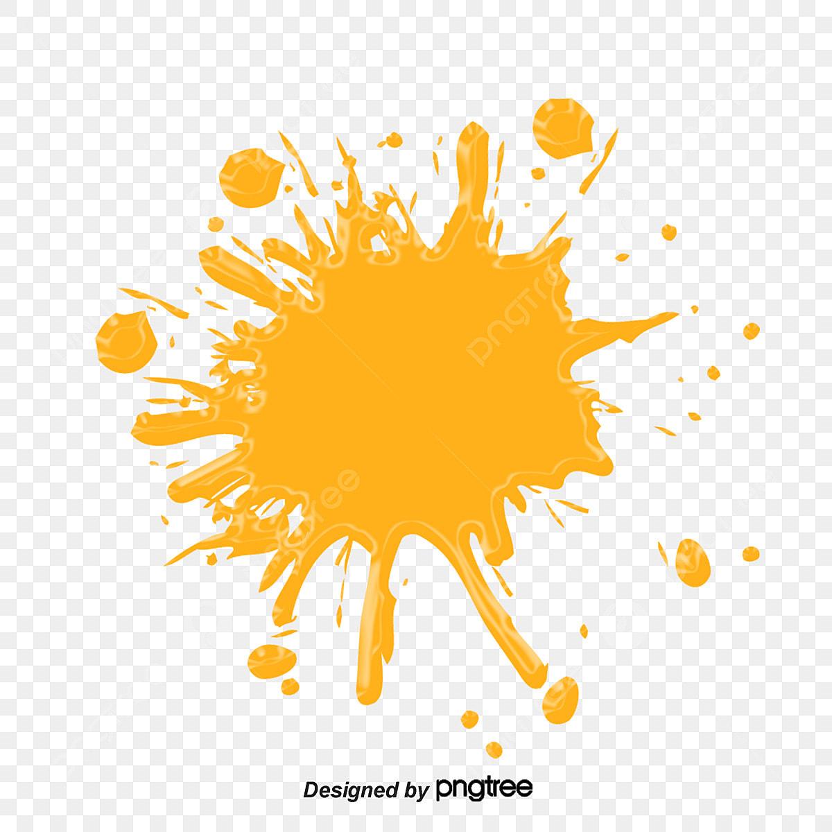 Orange Splash Clip Art