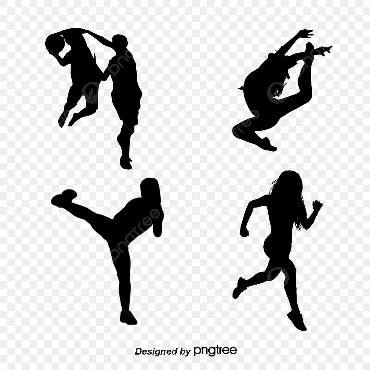 Siluetas De Figuras Deportivas Educación Física Movimiento Personaje Png Y Psd Para Descargar Gratis Pngtree