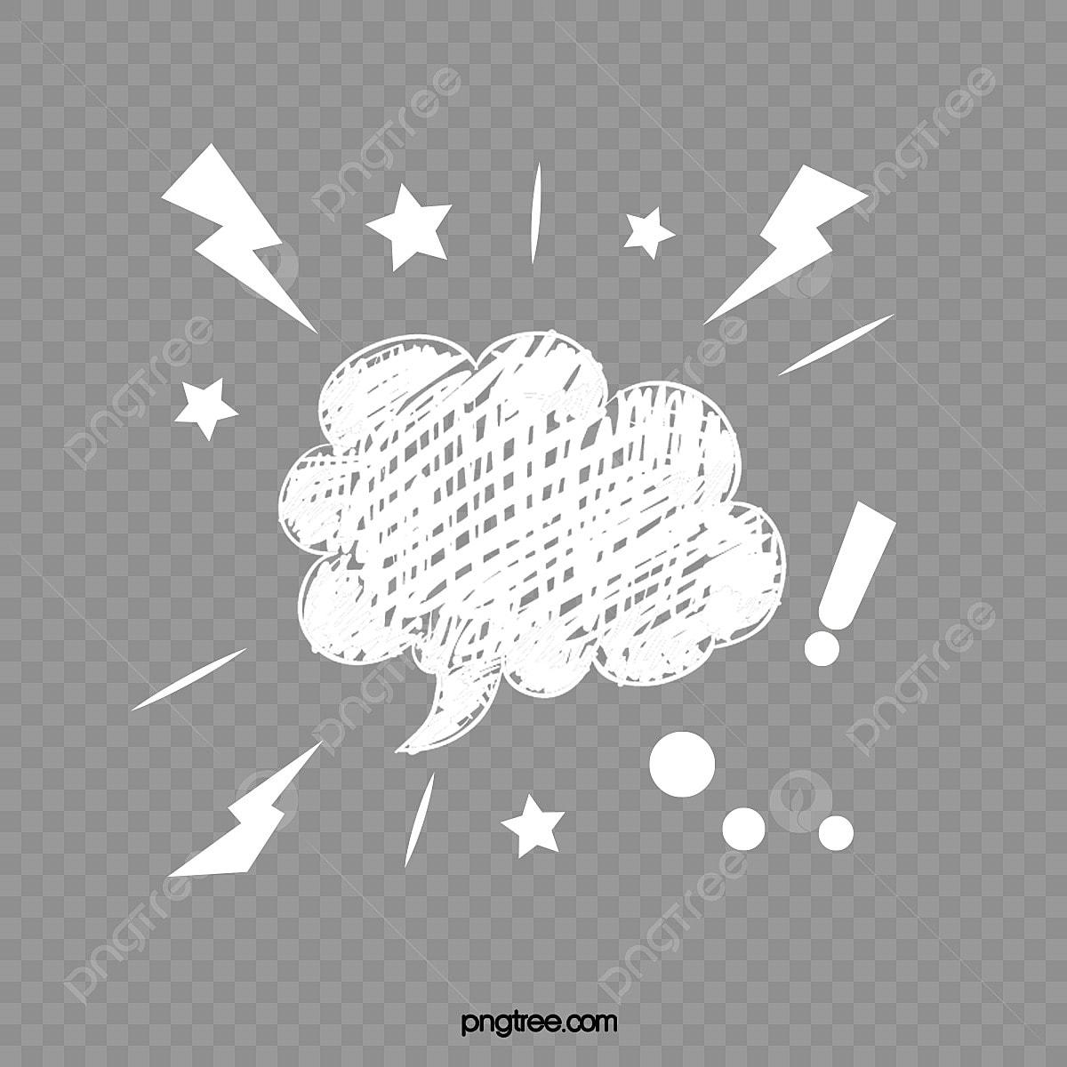 Stars Lightning Cloud Text Bubble, Comics Wind, Vector, Text