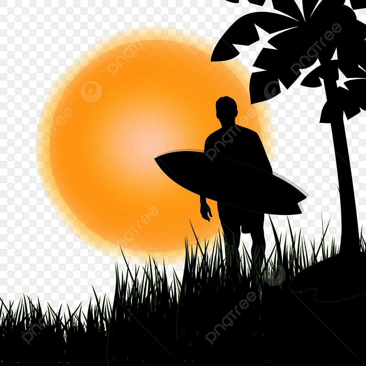 陽射しサーフィン サーフィン 椰子 人物画像素材の無料ダウンロード