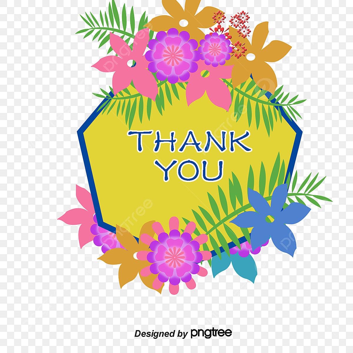 شكرا لك بطاقة شكرا لك الزهور بطاقة Png وملف Psd للتحميل مجانا