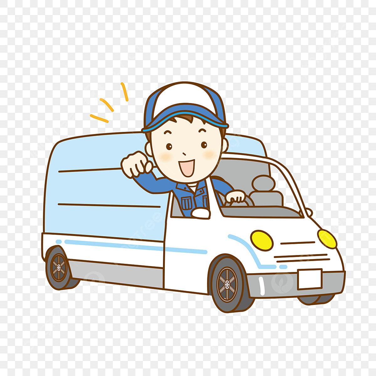 Gambar Kereta Versi Kartun Gambar Pemandu Lori Kereta Kartun Kereta Bahan Pemandu Unsur Unsur Png Dan Vektor Untuk Muat Turun Percuma