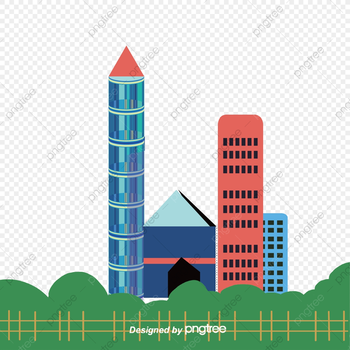 Twin Towers, Building, Vector PNG and Vector with