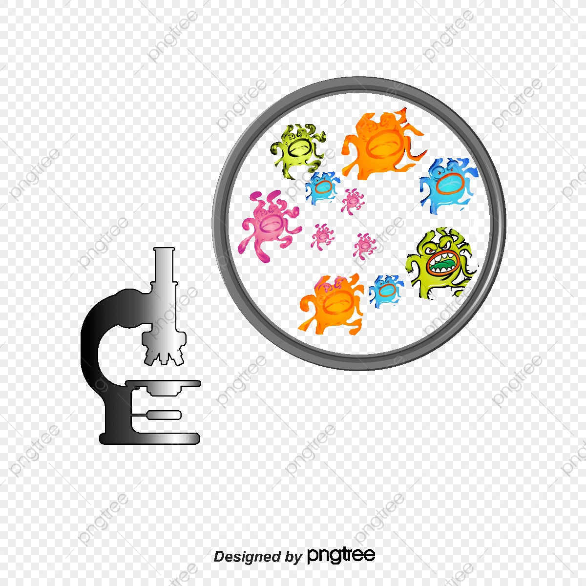 vector bacteria and microscopic bacterial microscope cartoon bacteria png transparent clipart image and psd file for free download https pngtree com freepng vector bacteria and microscopic 1492508 html