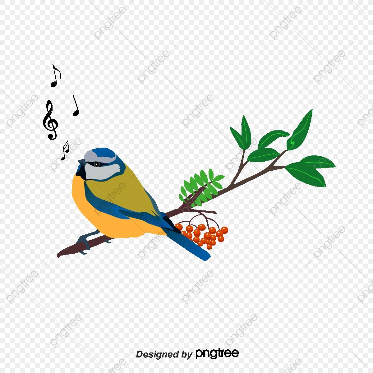 Branch Bird Vector