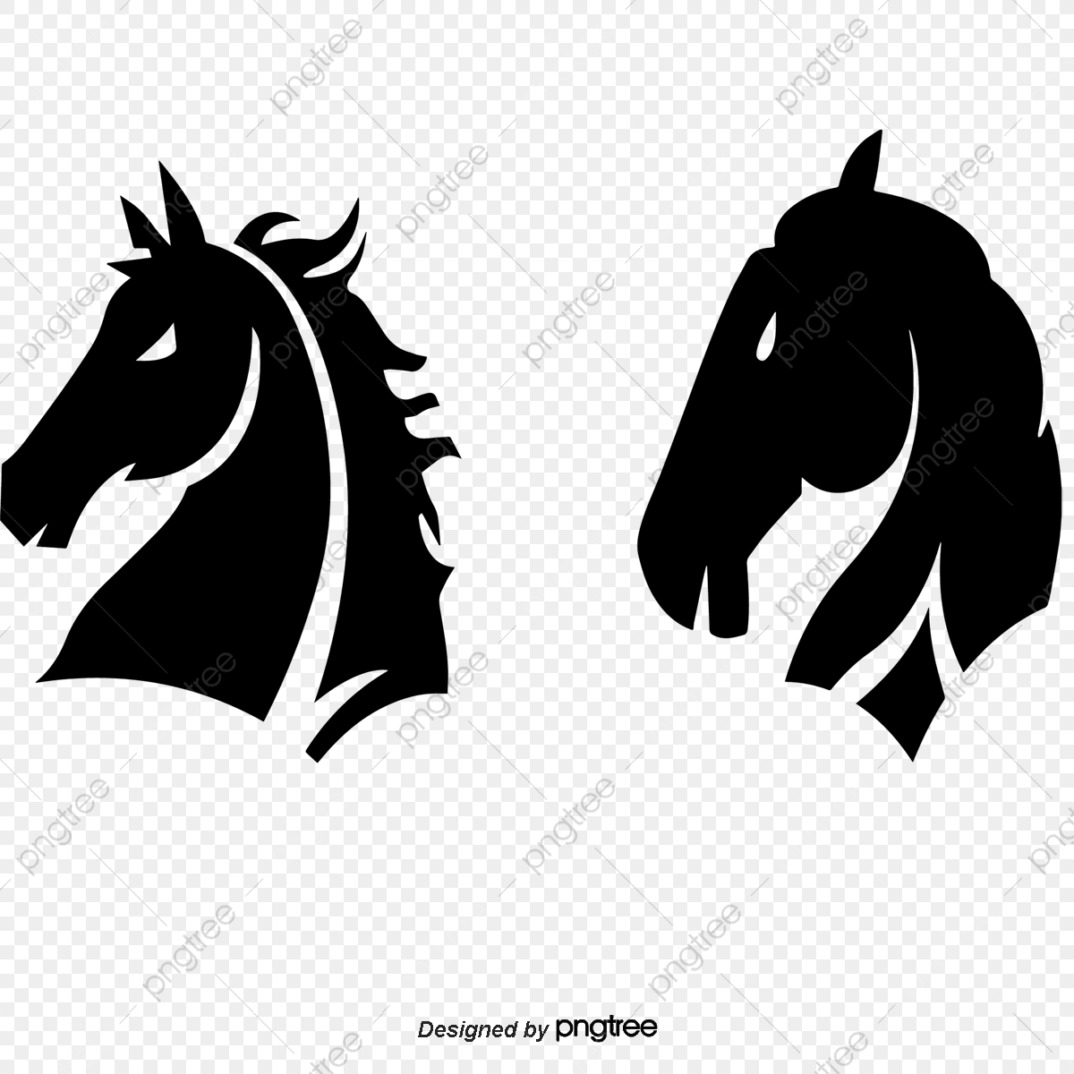 Vector Black Horse Horse Clipart Horsehead Vector Horse Png And Vector With Transparent Background For Free Download