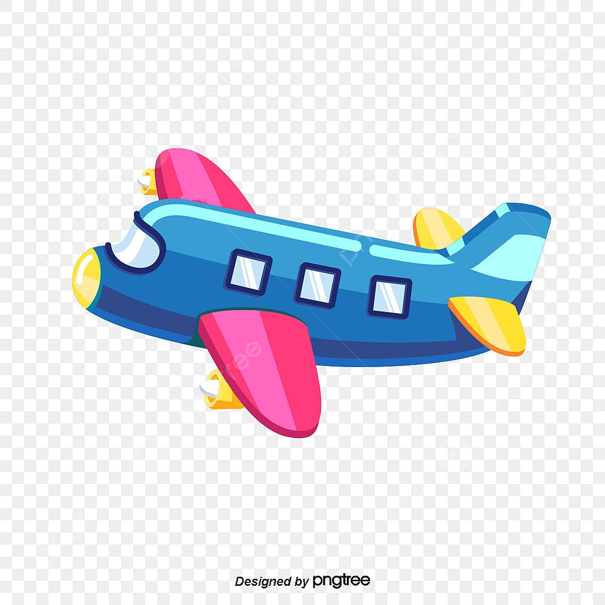 Vector Cartoon Airplane Material Cartoon Clipart Airplane