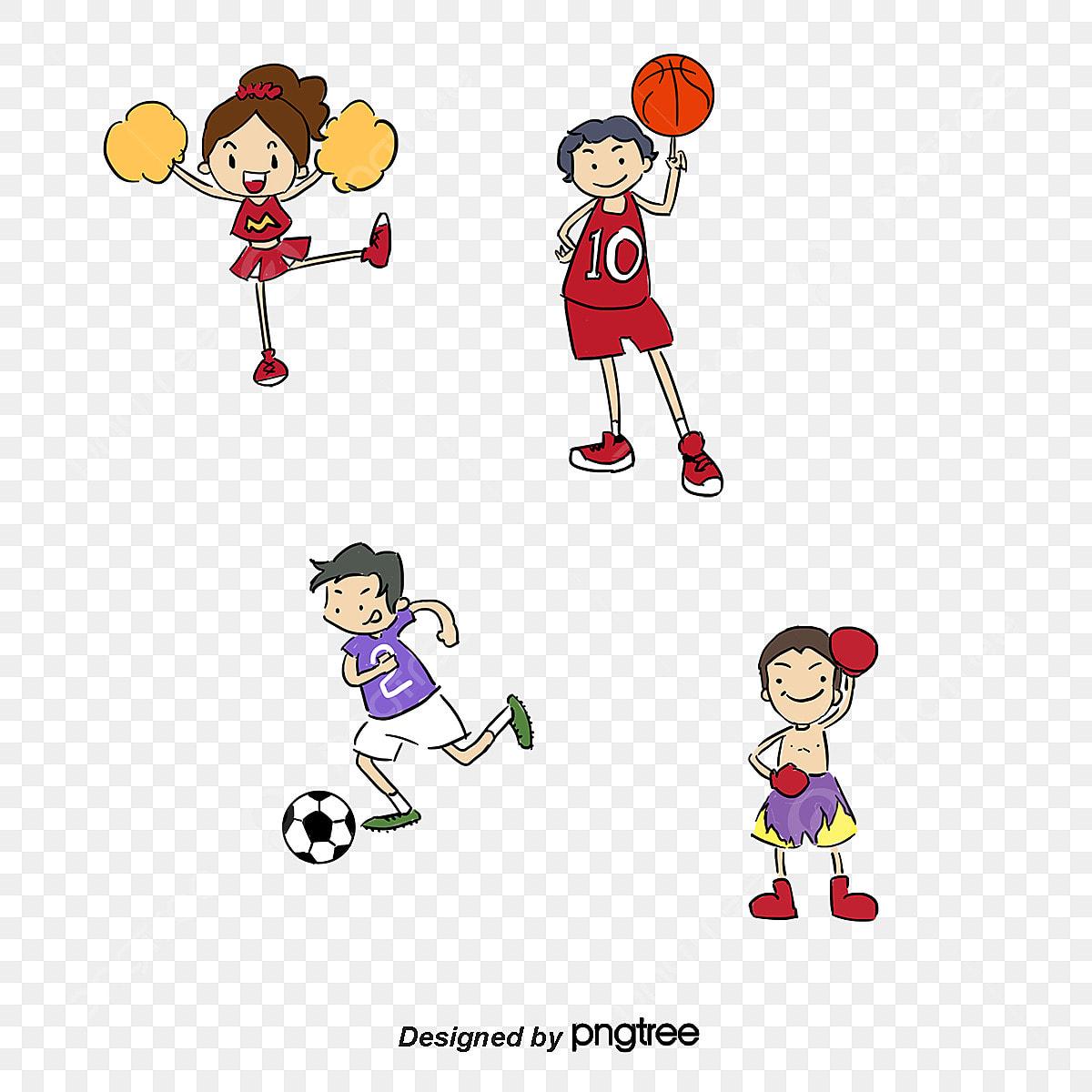 Vector Cartoon Athletes, Cartoon Child, Cartoon Characters, Vector