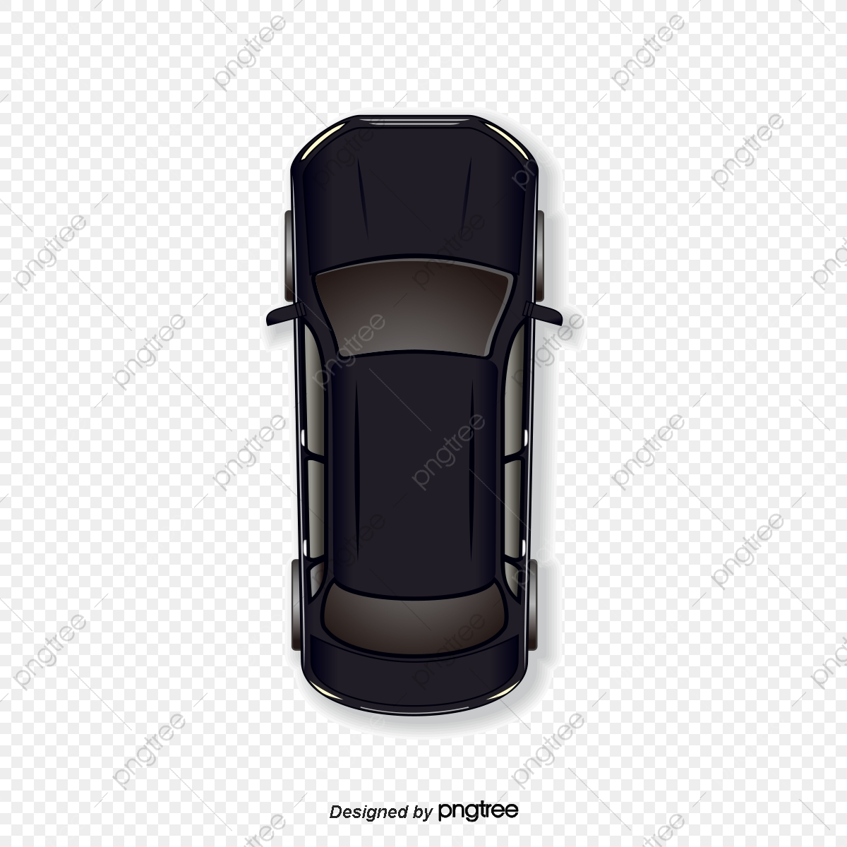 Vector Cartoon Black Car, Vector, Cartoon, Cartoon Vector