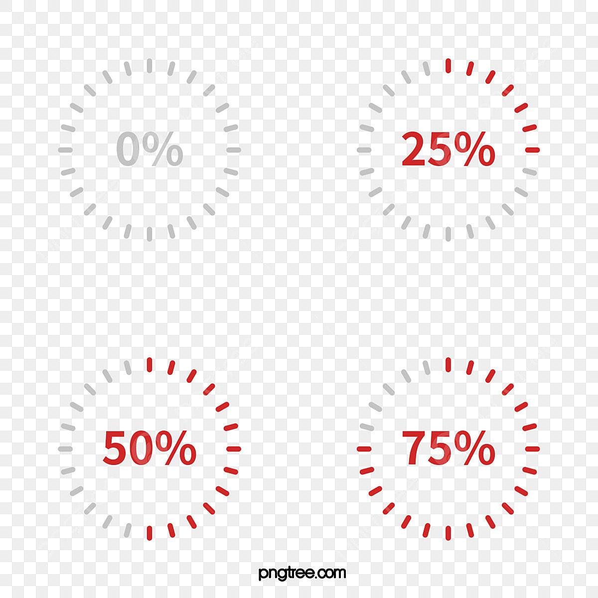 Vector Cartoon Circular Progress Bar Material, Vector Progress Bar