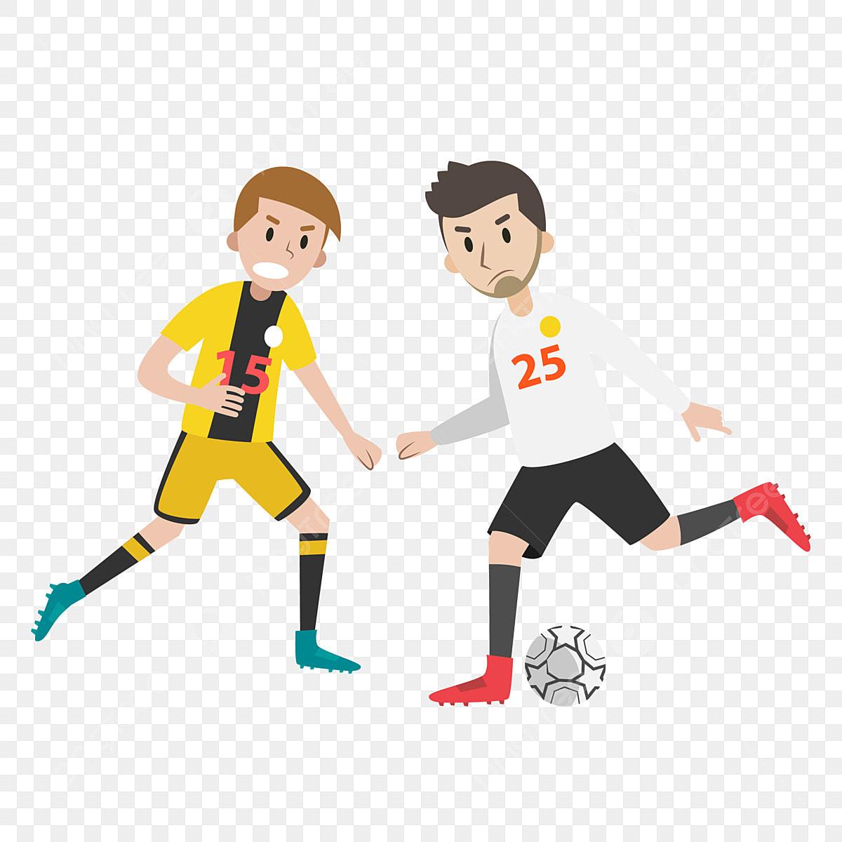 Vektor Kartun Pemain Sepak Bola Bahan Pemain Sepak Bola