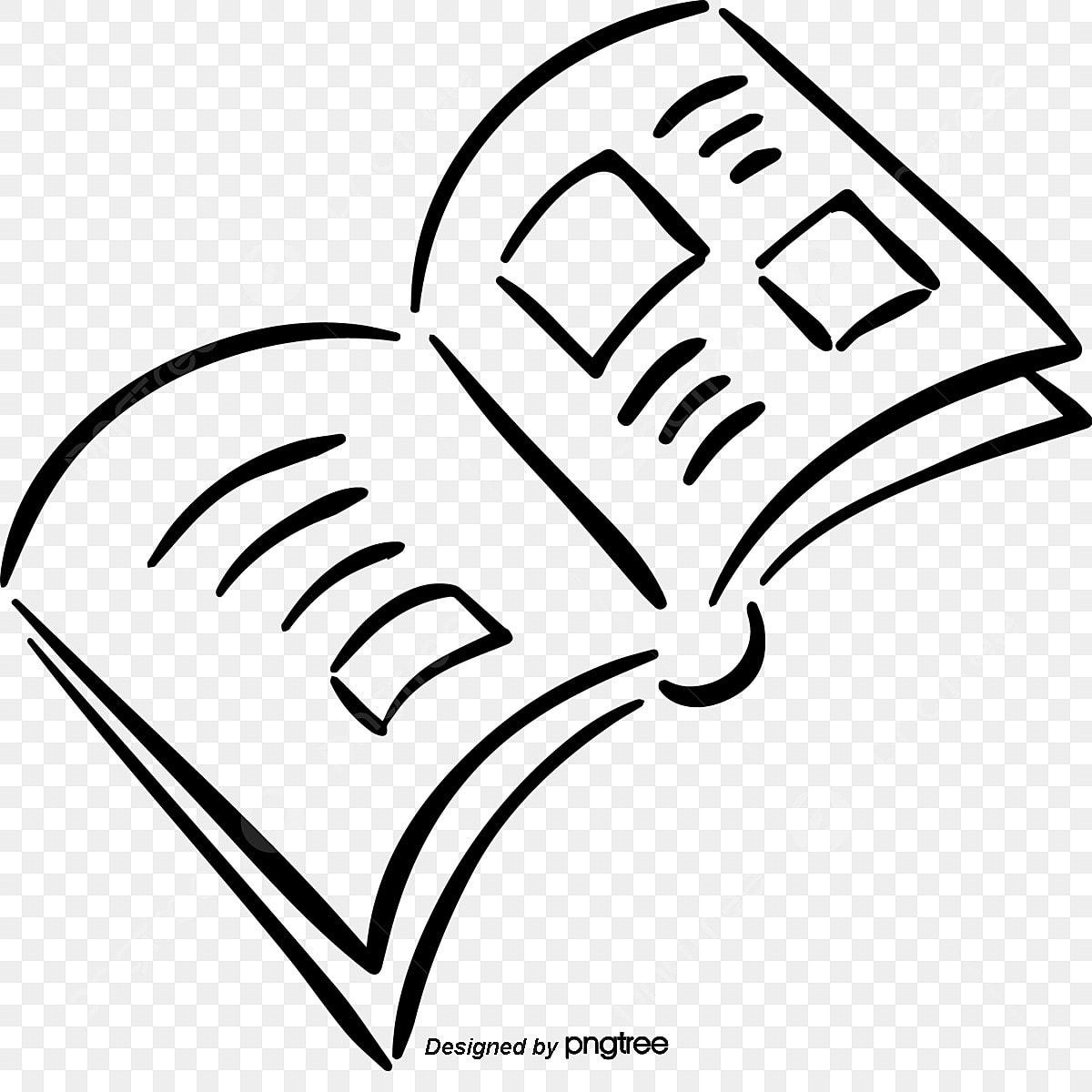 Vector Cartoon Pintados A Mano Libros En Blanco Y Negro Clipart De Dibujos Animados Cuaderno Libros De Dibujos Animados Png Y Vector Para Descargar Gratis Pngtree