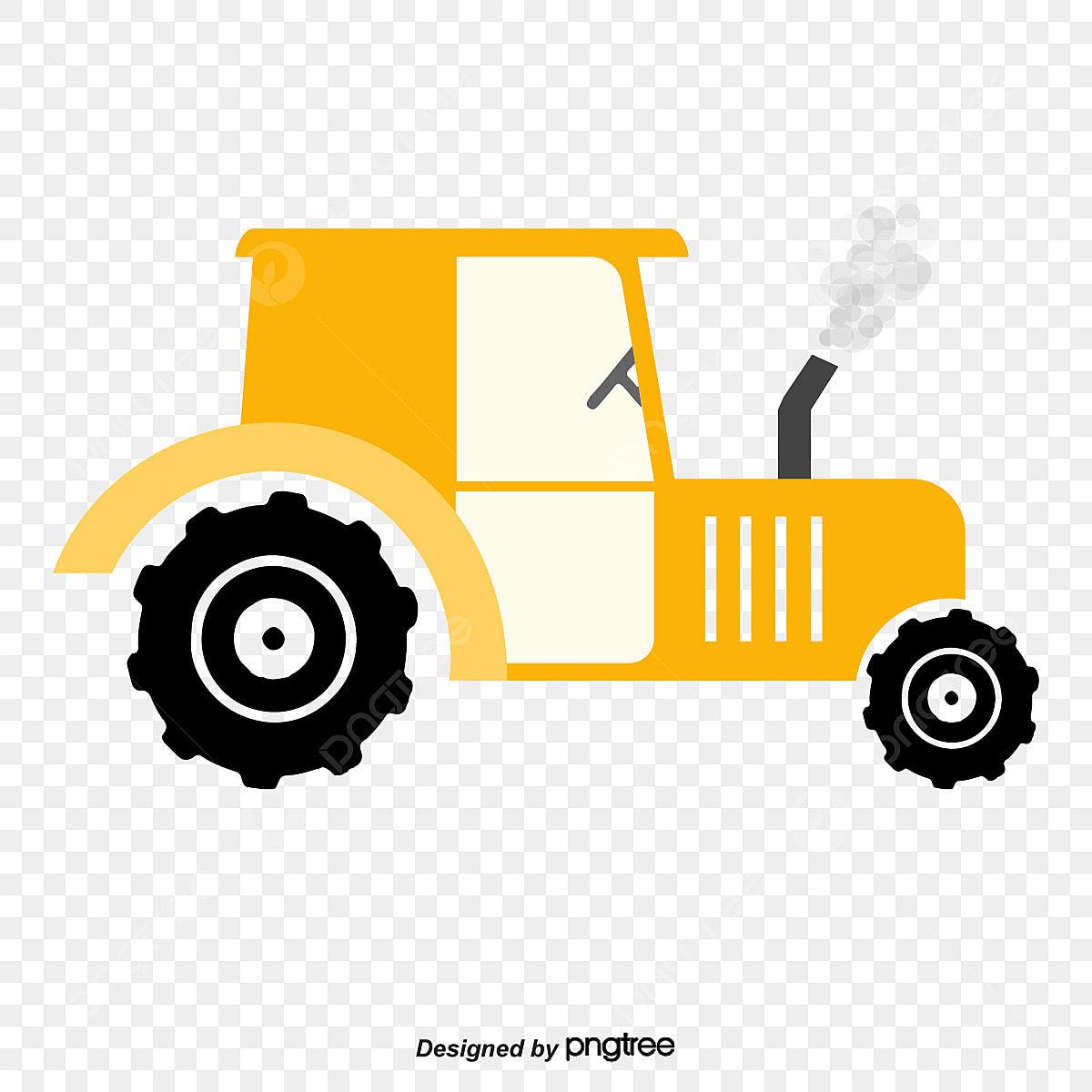 Vector Cartoon Tractor Trator Dos Desenhos Animados Tractor