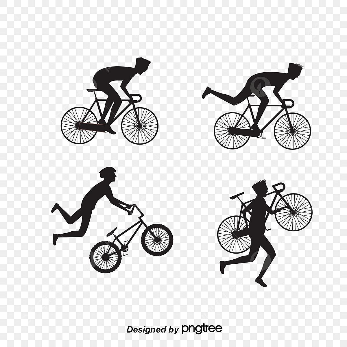 Il Vettore Di Ciclista La Bicicletta Persone La Silhouette Png E