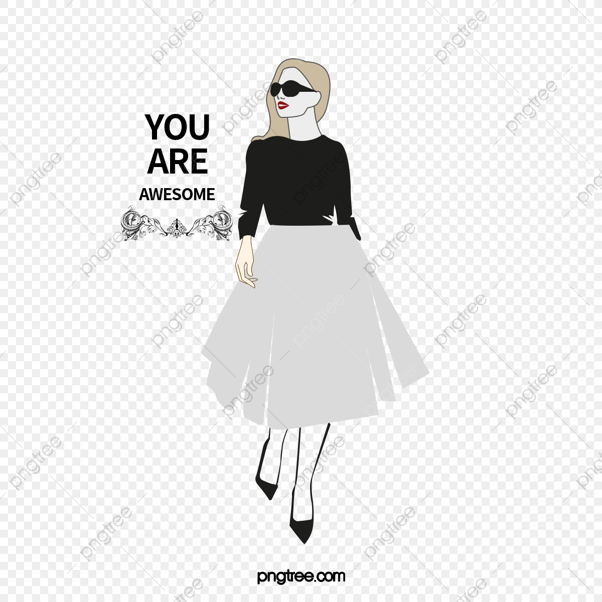 Vector Fashion Girls Fashion Girl Character Beauty Png Transparent Clipart Image And Psd File For Free Download