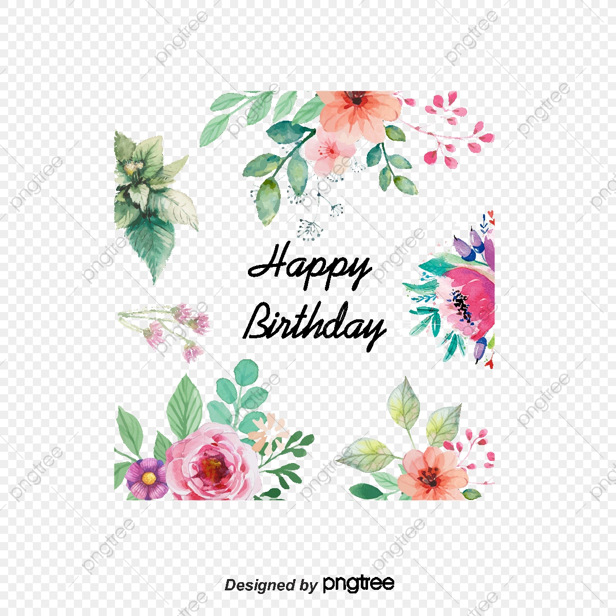 Vector Flowers Greeting Cards Watercolor Style Flowers Birthday Card Element Flowers Vector Png Transparent Clipart Image And Psd File For Free Download