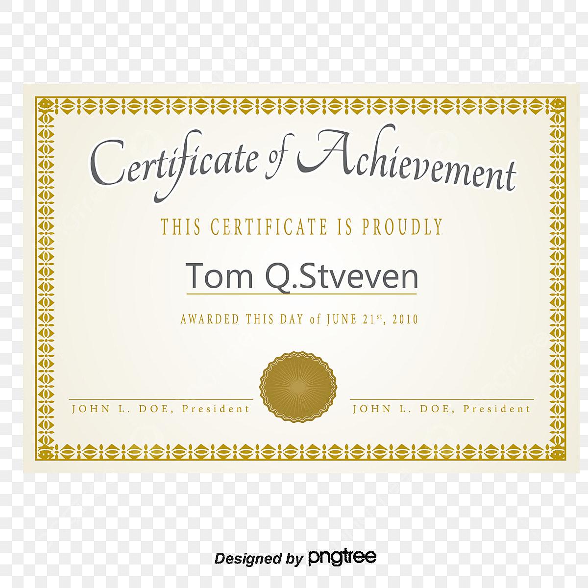La Lettre De Nomination De Vecteur De Certificat De Cadre D
