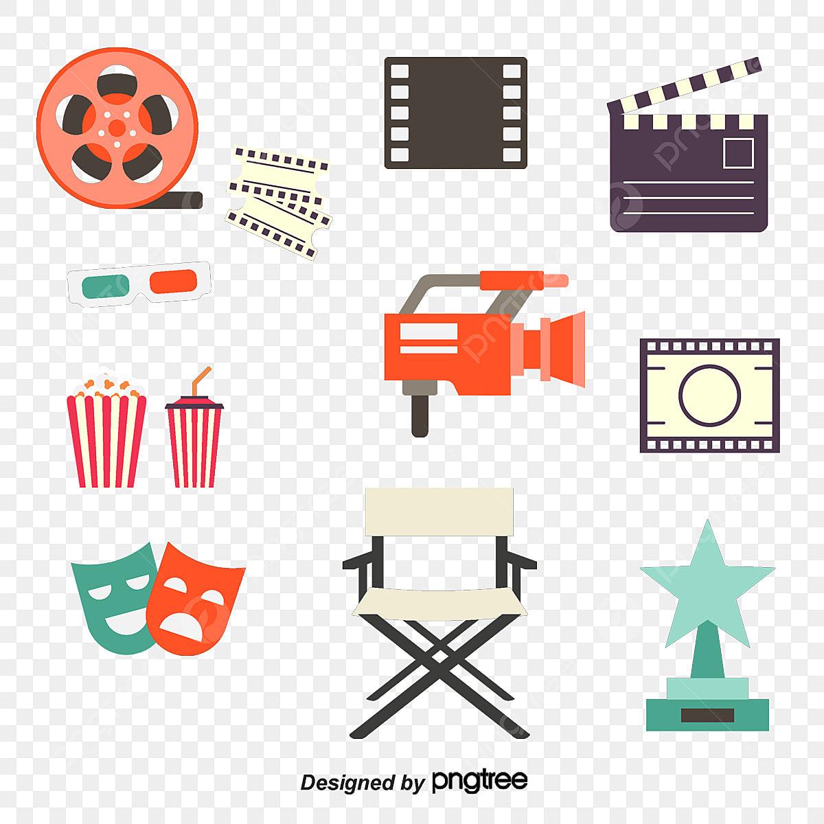 Film De Vecteur D Un Equipement Audiovisuel Un Film D Un