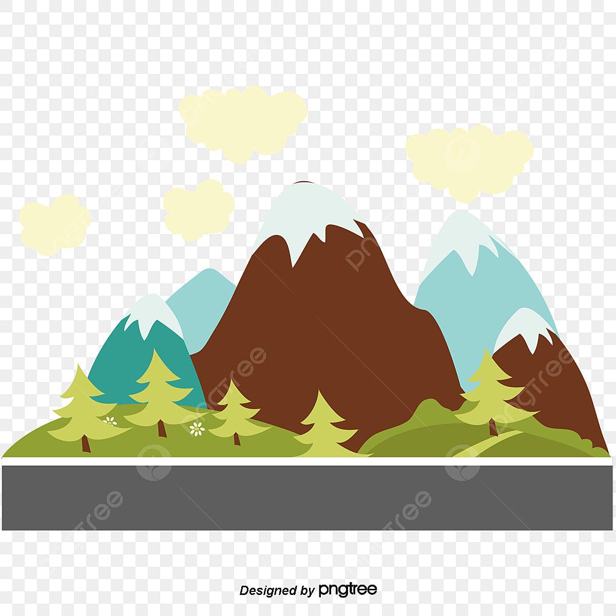 Vetor De Paisagem Natural Desenhos De Paisagens Naturais Hill A