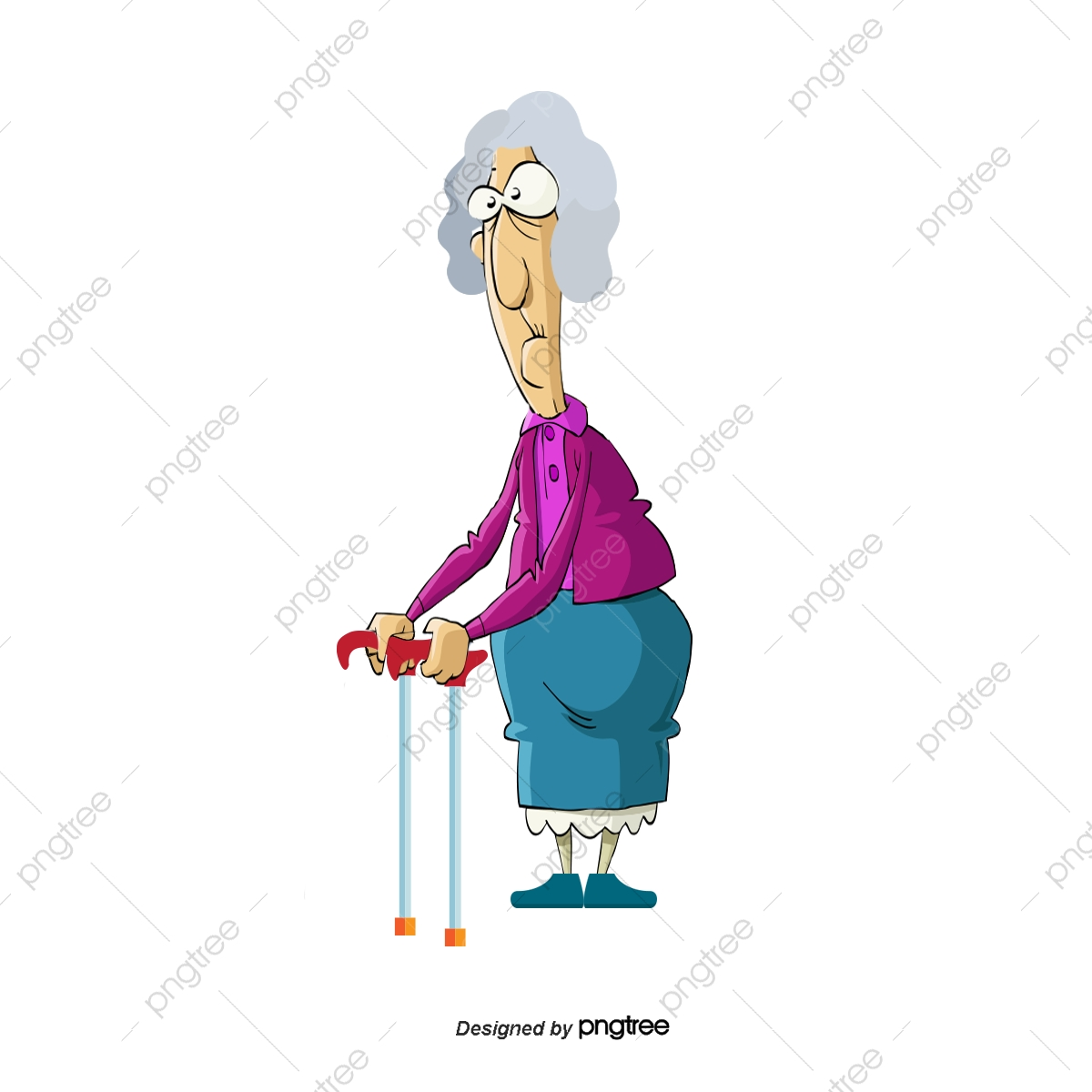 Vector Old Lady, Vector Character, Cartoon Characters, People