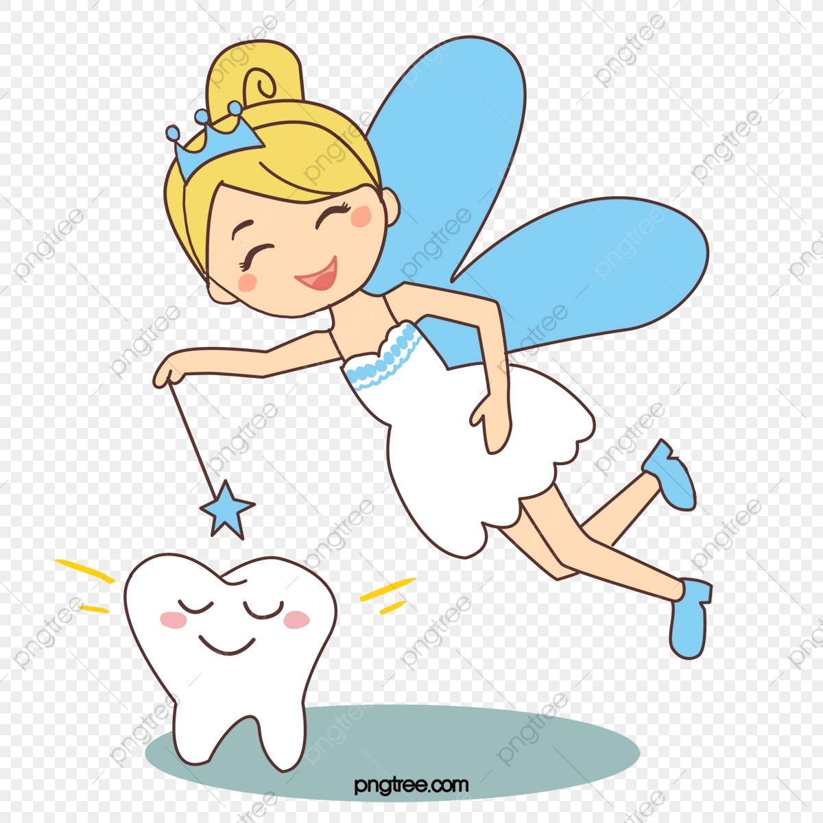 Vector Painted Small Tooth Fairy Vector Hand Painted Little Tooth Fairy Png Transparent Clipart Image And Psd File For Free Download
