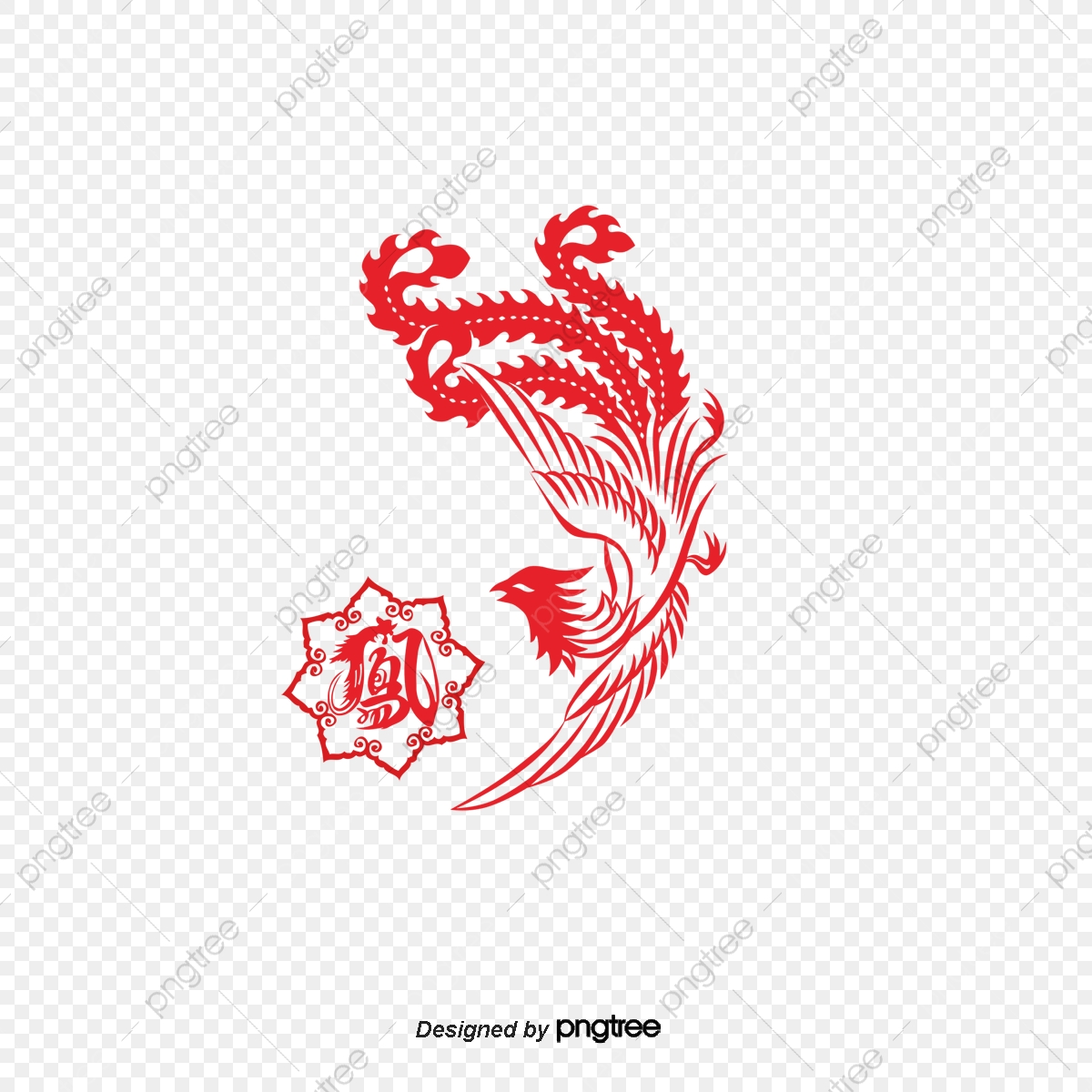 Vector Phoenix Paper Cut, Vector, Phoenix , Paper Cut PNG