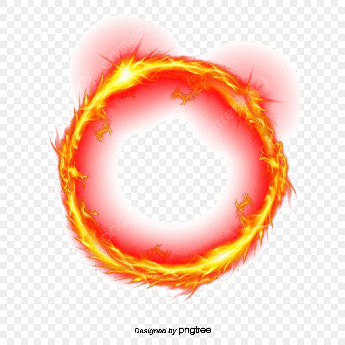 Feuer Ring Feuer Ring Cartoon Feuer Ring Die Flamme Png