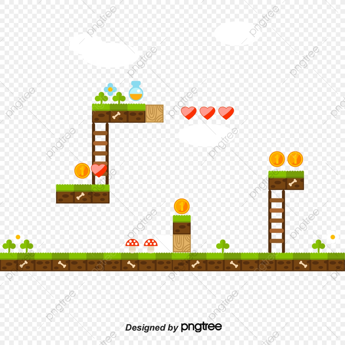 Vector Super Mario Hd Vector Mushroom Png And Vector With