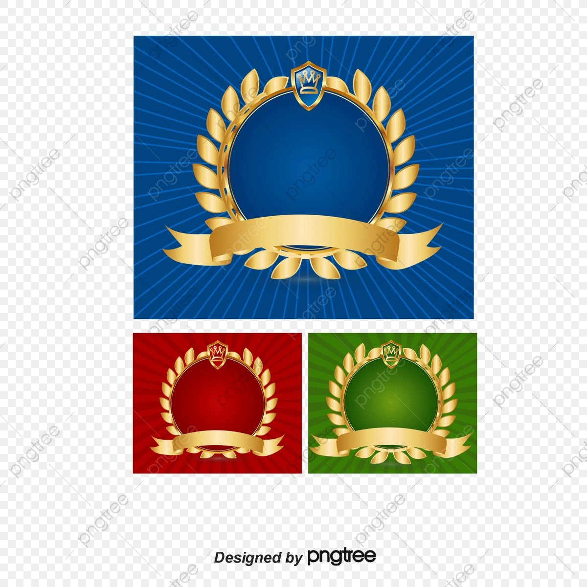 Vector Three Color Team Logo Round Badge Mark Png And Vector With