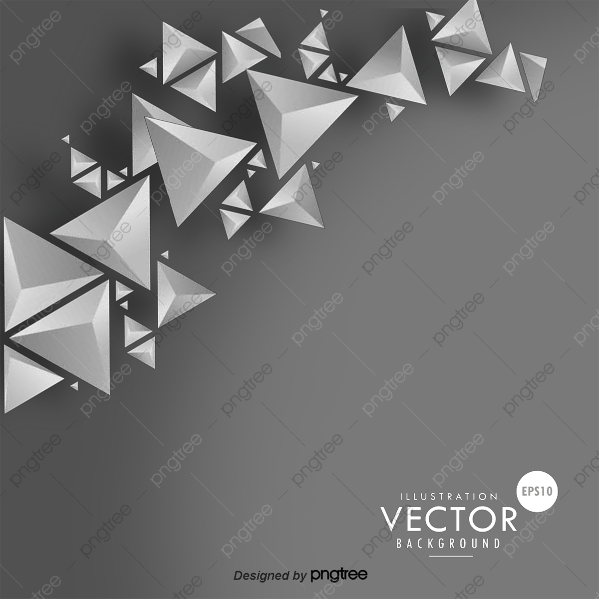 Vector Triangle Background, Hd, Vector, Gray Triangle PNG