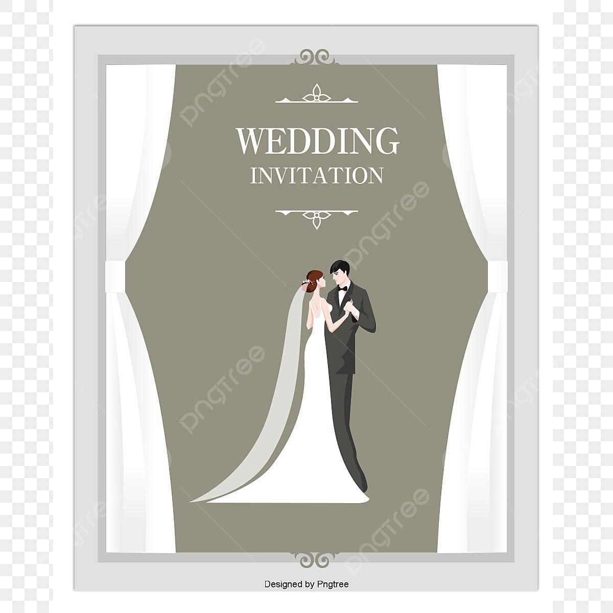 Le Vecteur De La Lettre D Invitation De Mariage Hd