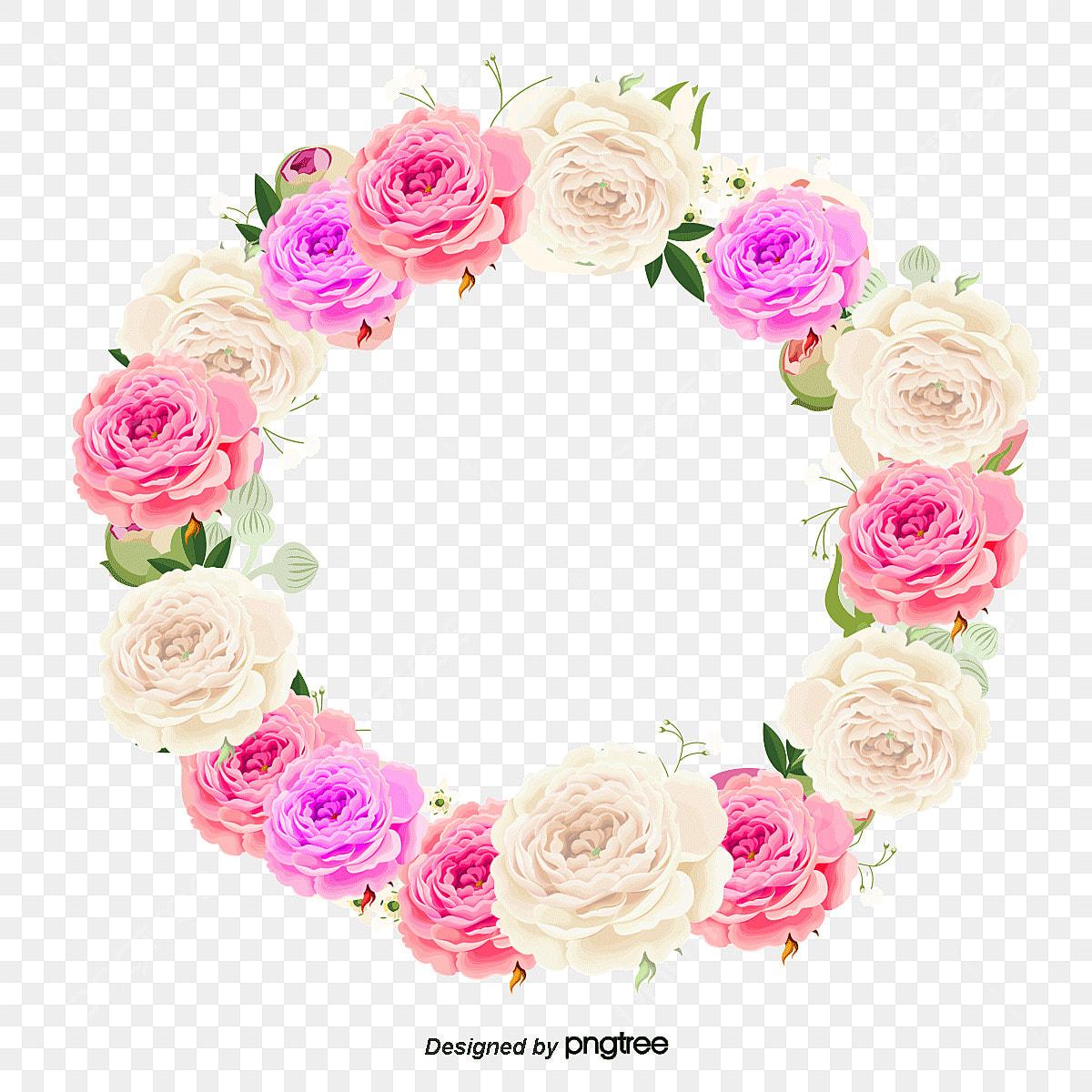 couronne de vecteur couronne fleur aquarelle fichier png et psd pour le t u00e9l u00e9chargement libre