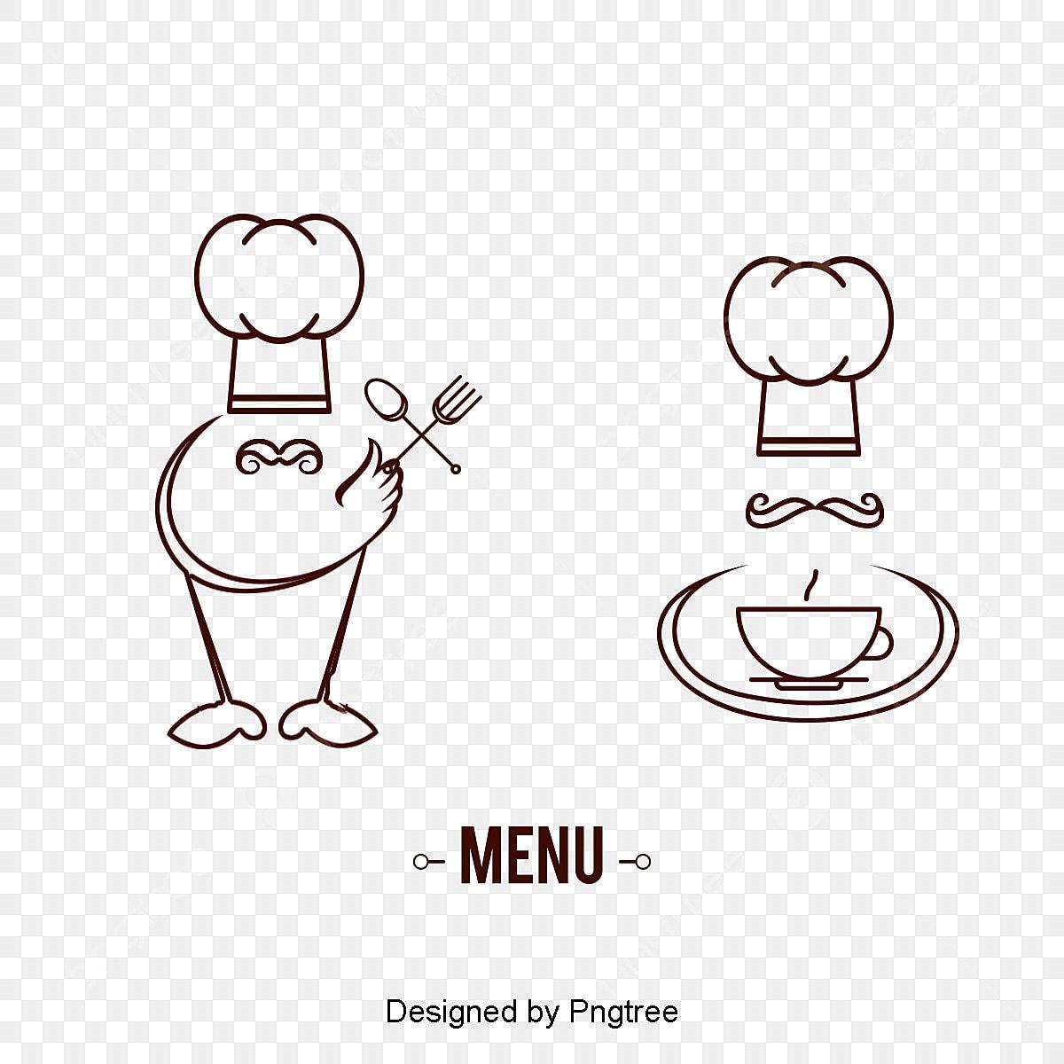Makanan Barat Chef Logo Bahan Vektor Bendera Menu Makan Fail