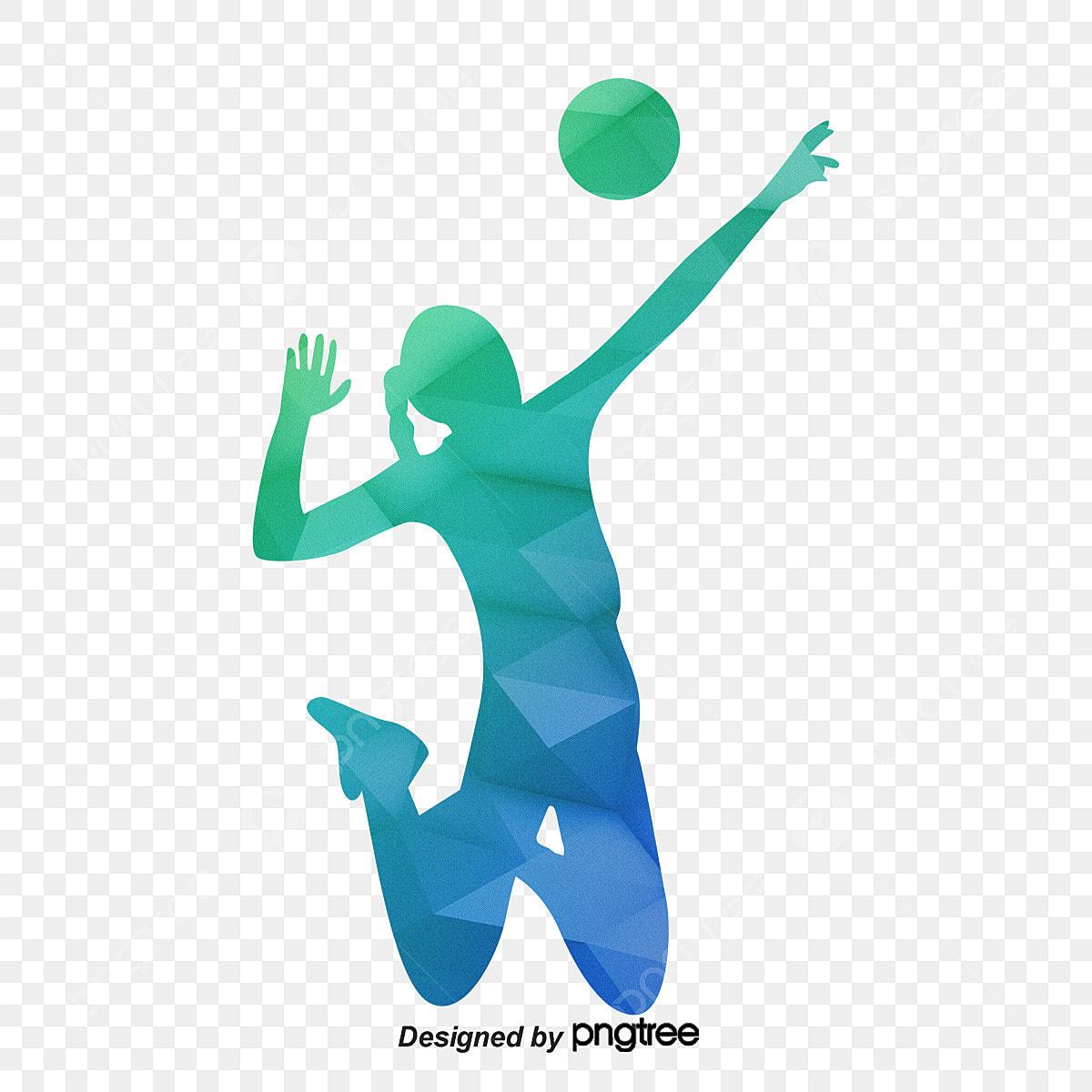 Gambar Wanita Bermain Tampar Tampar Bermain Bola Voli Pergerakan Png Dan Psd Untuk Muat Turun Percuma