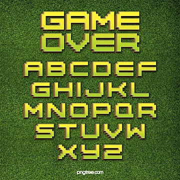 modern fashion color gradient game pixel alphabet Fonts