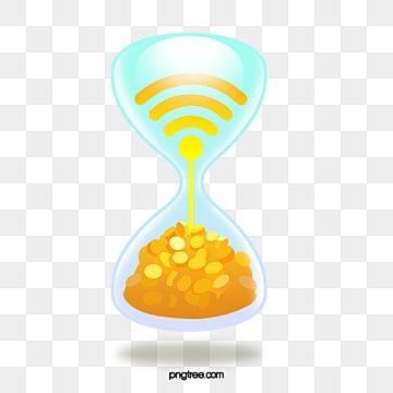 three dimensional intelligent life element hourglass gold coin, Wifi, Time, Intelligence PNG and PSD