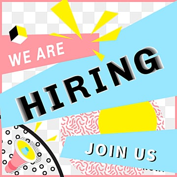 join us in memphis to recruit pink elements, Join, Memphis, Advertisement PNG and PSD