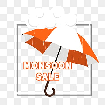 monsoon discount border, Cloud, Discount, Orange PNG and PSD