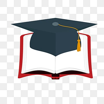 black bachelors hat graduation high rim hat book image education university, Book, Card Love, Cartoon PNG and PSD