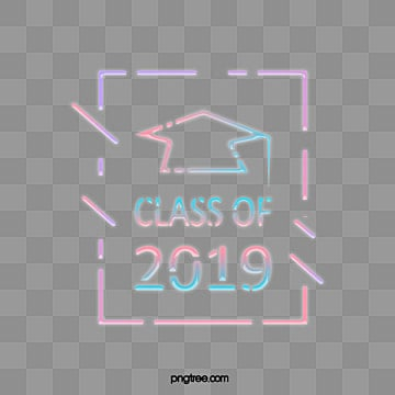 cute fluorescent graduation hat graduation ceremony in 2019, 2019, Lovely, Celebrating PNG and PSD