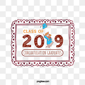 cute photo frame creative elements of graduation cap 2019, Bachelor Cap, Hand Painted, Graduation PNG and PSD