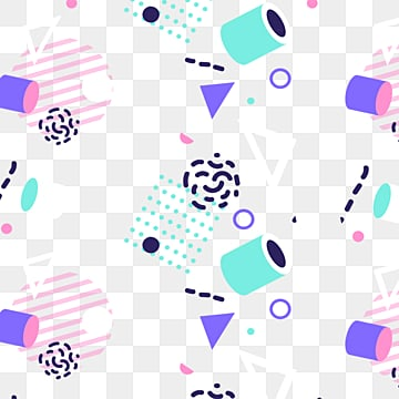fresh and gradual memphis patterns, Irregular Geometry, Cylinder, Memphis Pattern PNG and PSD
