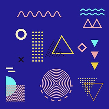 fresh irregular geometric patterns, Triangle, Irregular Geometry, Memphis PNG and PSD