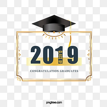 creative elements of graduation cap 2019, 2019, Bachelor Cap, Graduation PNG and PSD